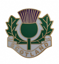 Scotland Thistle Worded Pin Badge - T1235